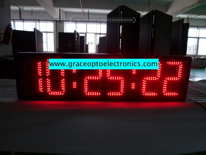 "red led 15"" digit led sports stopwatch 7 segment led large digital wall clock time display"