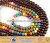 Round Wood Beads, Fashion Colors Mix