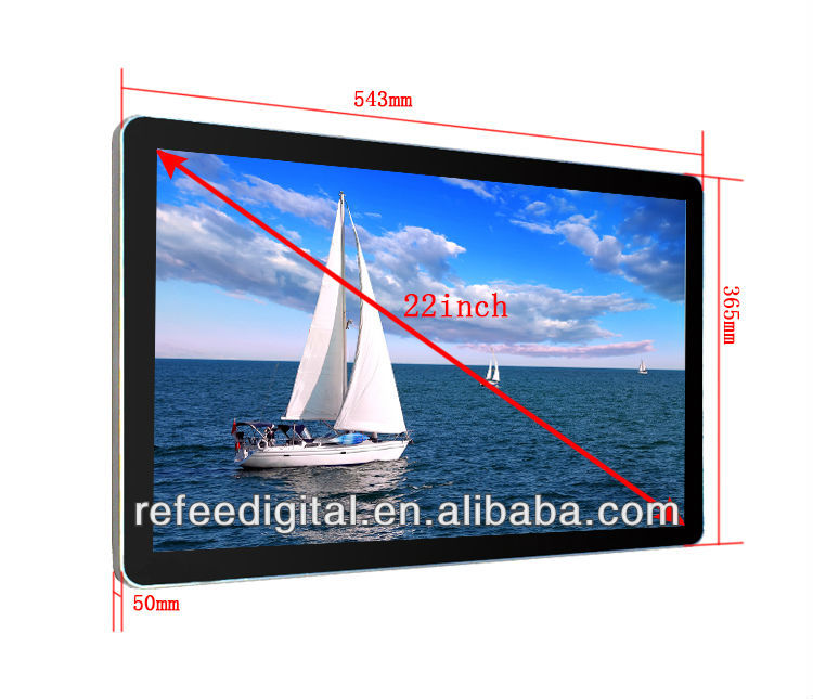 22'' LCD Samsung/LG digital signage with touth screen/WIFI/3G optional