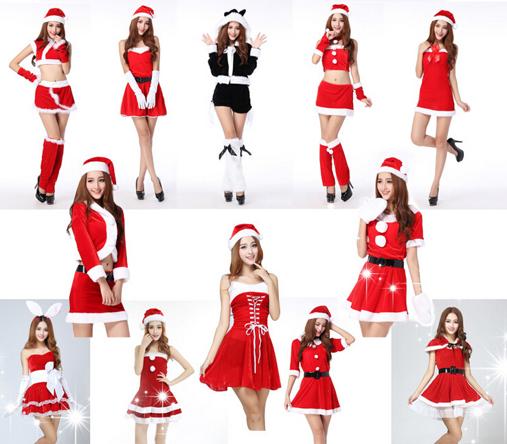 walson 2015 Wholesale Sexy Adult Christmas Costume
