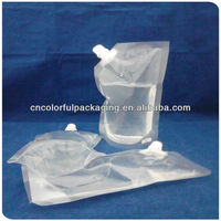 Transparent clear spout pouch bag for liquid/standing pouch with spout/laminated packaging with spout pouch