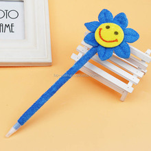 Smile flower ballpoint pen colorful novelty promotional pen