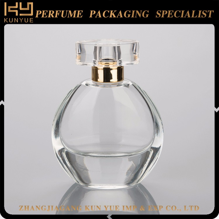 Elegance glass perfume bottle for women