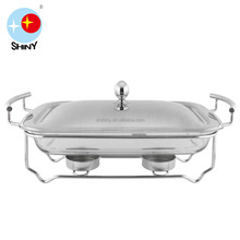 SHINY KI03 Rectangle buffet chafing dish food warmer