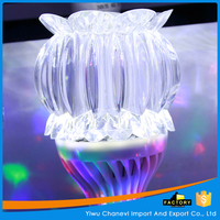 Beautifully transparent lotus Crystal led bulb for home party decorative light