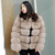 CX-G-A-62C Winter High Quality Women Real Natural Mink Fur Coat