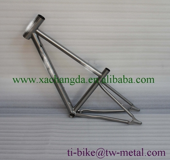 XACD made titanium mtb bike frame with taper head tube and sand blasting finished