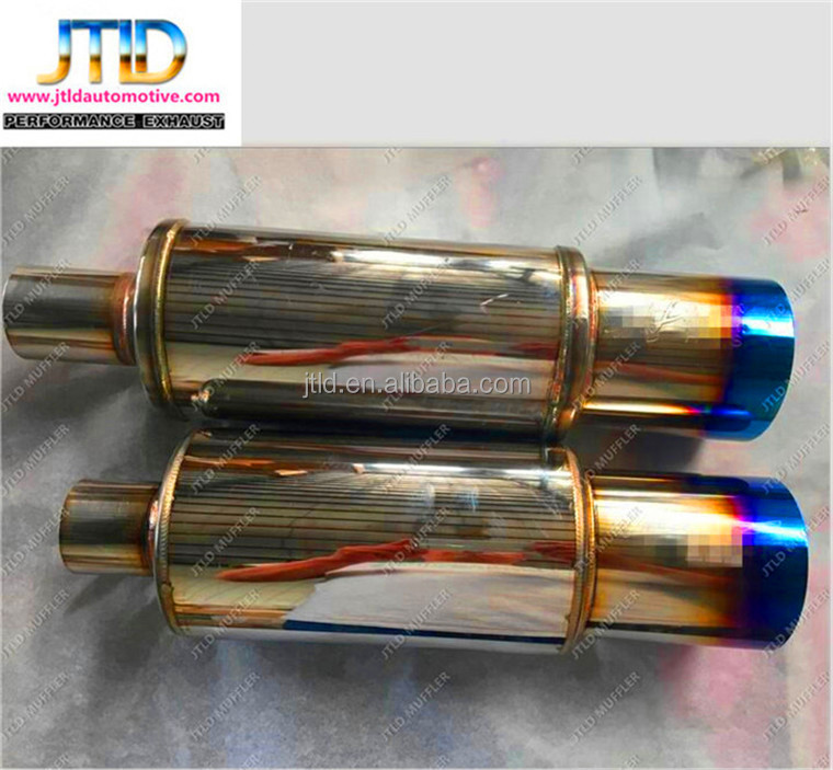 Chinese car auto engine imported for HKS style motorcycle exhaust mufflers for vw golf mk6 exhaust muffler