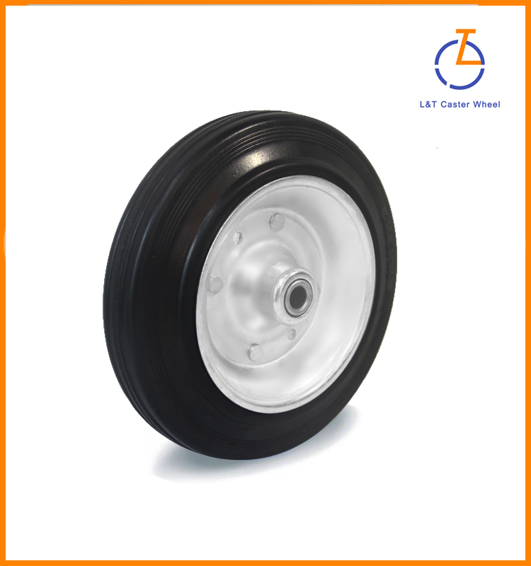 "3""/4""/5'/6""/8""/<strong>10</strong>"" industry roller pin bearing rubber wheel"