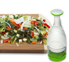 Onion Vegetable Fruit Salad Food Garlic Meat Chopper Dicer Cutter Stainless Steel Blades Manual Hand Chopper