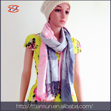 2016 online wholesale high quality 55% viscose 45% acrylic light lady scarf
