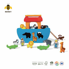 Popular kids educational toy wooden Noah's Ark