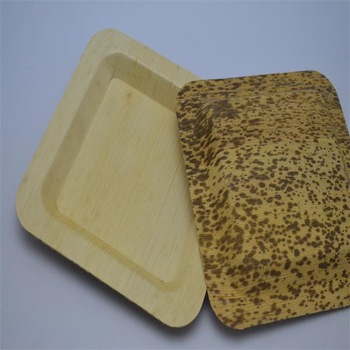 Promotional Bamboo Tableware Round or Square Bamboo Plates/Bowl/Dishes/Tray