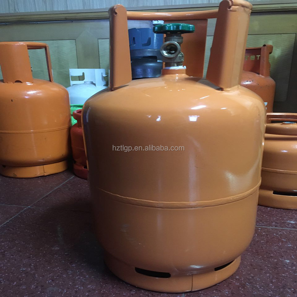 empty welded refillable liquefied petroleum gas tank lpg gas bottle for Philippines market