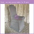 YT10688 new style cheap silver spandex sparkle glitter chair cover