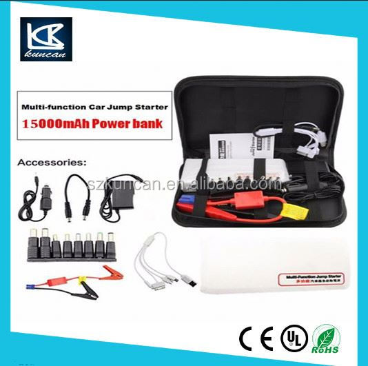 new car accessories products safety jumper cables 15000mah diesel car jump starter