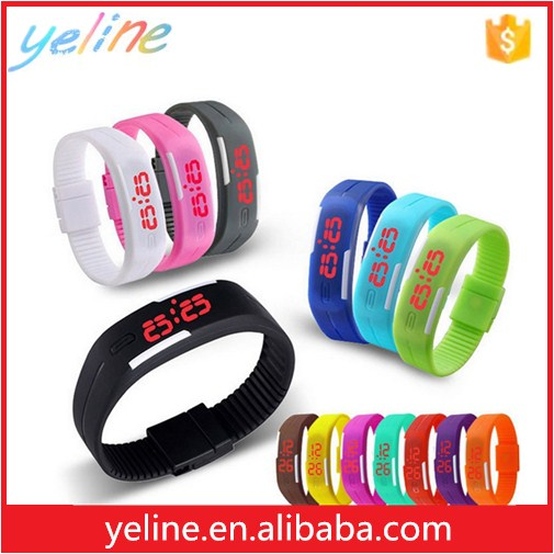 fashion lady watch silicone led watch for Christmas