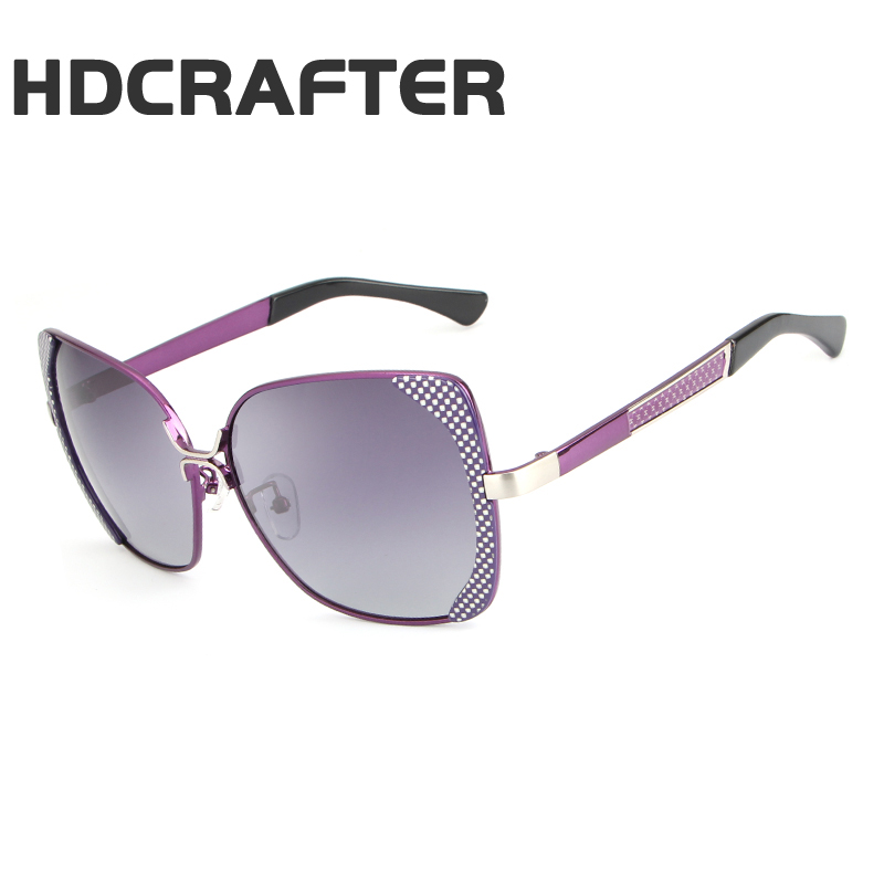HDCRAFTER Polarized Driving Sunglasses Large Metal Frame Eyewear