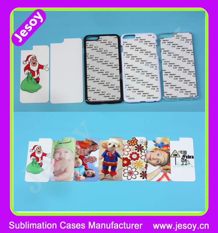 JESOY New arrive 2D Blank Sublimation hard PC phone case with metal sheet for HTC ONE M9