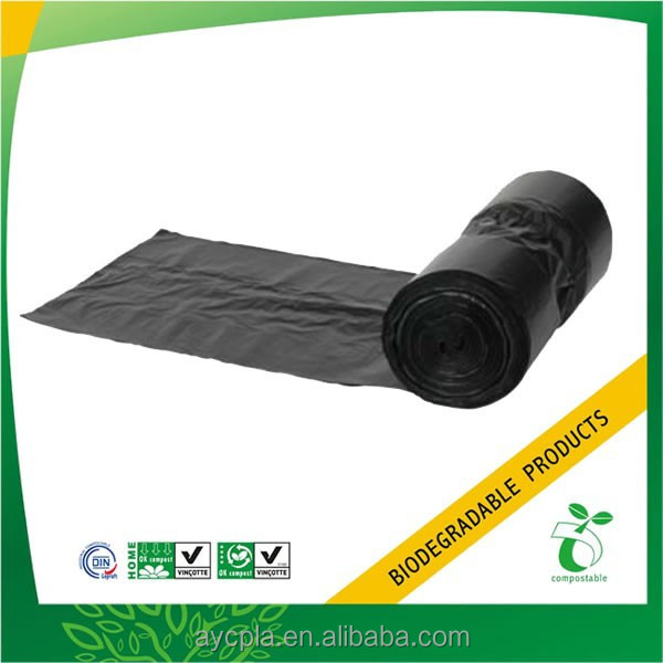 EN13432 certified Fully biodegradable made corn plastic cheap garbage bag