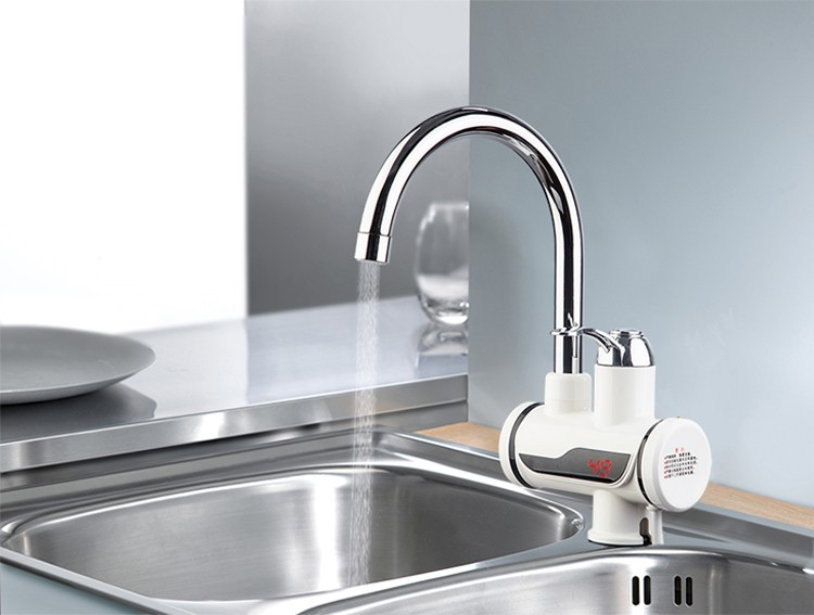 Digital deck mounted instant water heater kitchen tap instant electric water heater faucet
