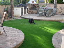 Permanent installation fake grass artificial grass synthetic turf