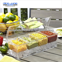 Manufacturer sell directly Crystal Chill It Condiment Server
