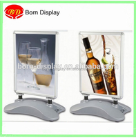 2014 New PVC Sheet Aluminum Material Frame A1 A0 Size Water Base Sing Advertising Board with Plastic Foam Bag and Carton
