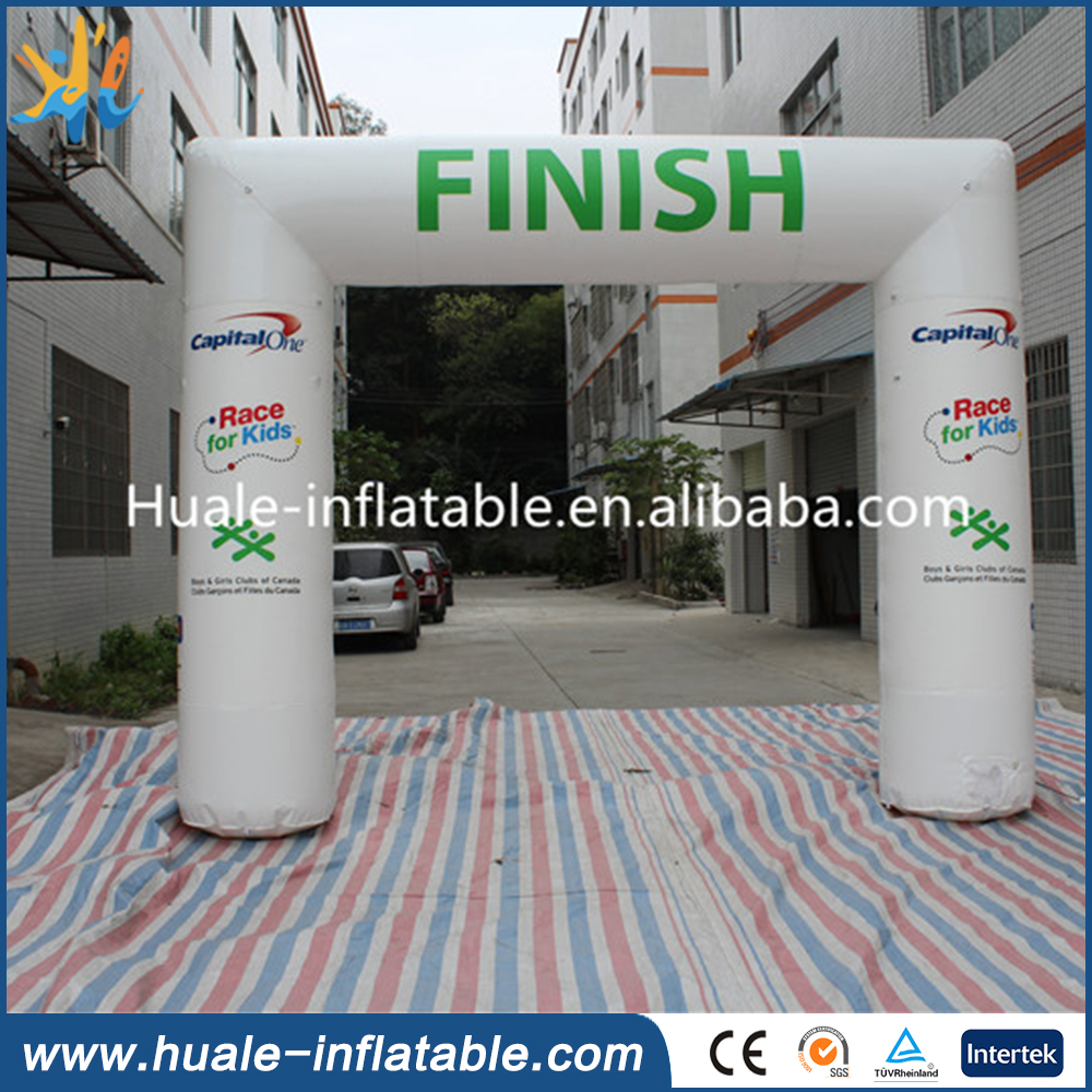 Cheap race for kids arch, Inflatable finish line arch