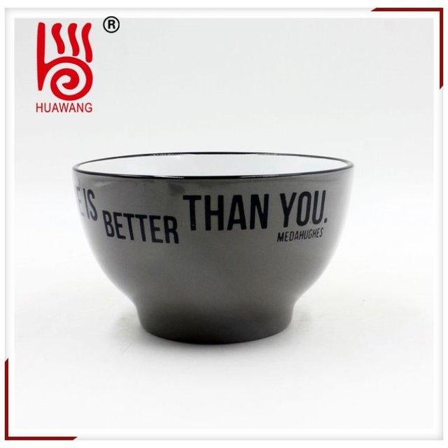 Most popular super quality football printing custom ceramic bowl