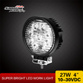 Long lifespan round 27W led work lights car offroad light with manage base