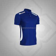 Royal Blue/White China Manufacture short sleeve plain polo t shirts