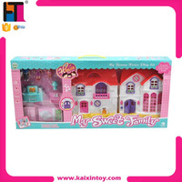 Top selling toy castle happy family sweet house toy