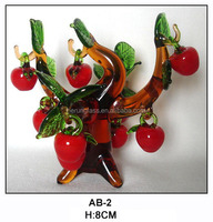 festive glass apple tree for christmas decoration