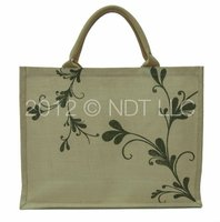 Jute Shopping Bags with White Jute and Cotton Padded Handle