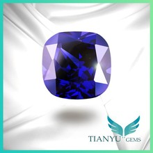 High Quality Cushion Cut Tanzanite Faceted Cubic Zirconia Loose Stone