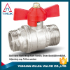 manufacture in China palting brass ball valve and teflon washer and full port ball valve in OUJAI VALVE FACTORY