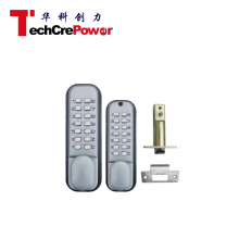 F20S High quality and security Mechanical push button outdoor keypad code door lock