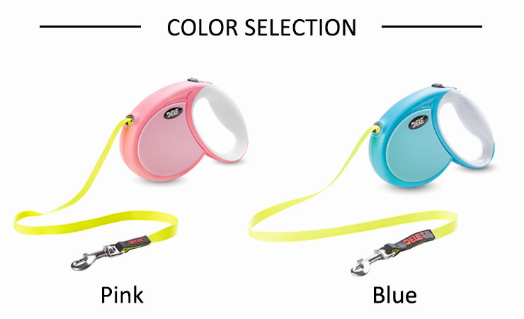 2017 NEW Pet products Factory Reflective Leash Retractable dog leash