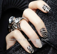 3D metallic full wrap nail art stickers