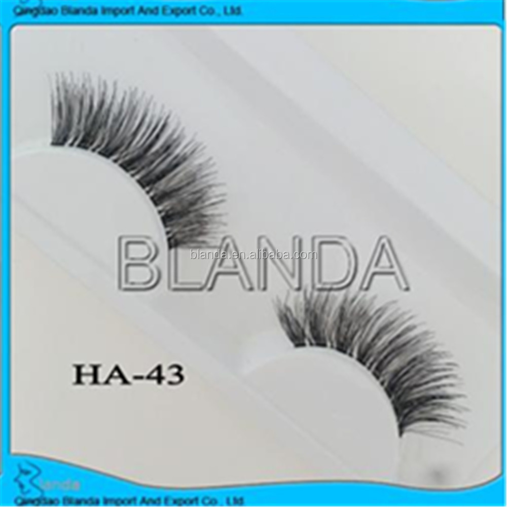 2016 100% handmade Top quality human hair lashes