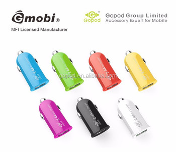 Accessory Gopod Mini USB Car Charger Vehicle Power Adapter, 2.4Amp for iPhone 6,/iPhone 6 Plus/iPad Air 2