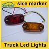free shipping 12v/24v 2.5 inch piranha truck trailer led lights