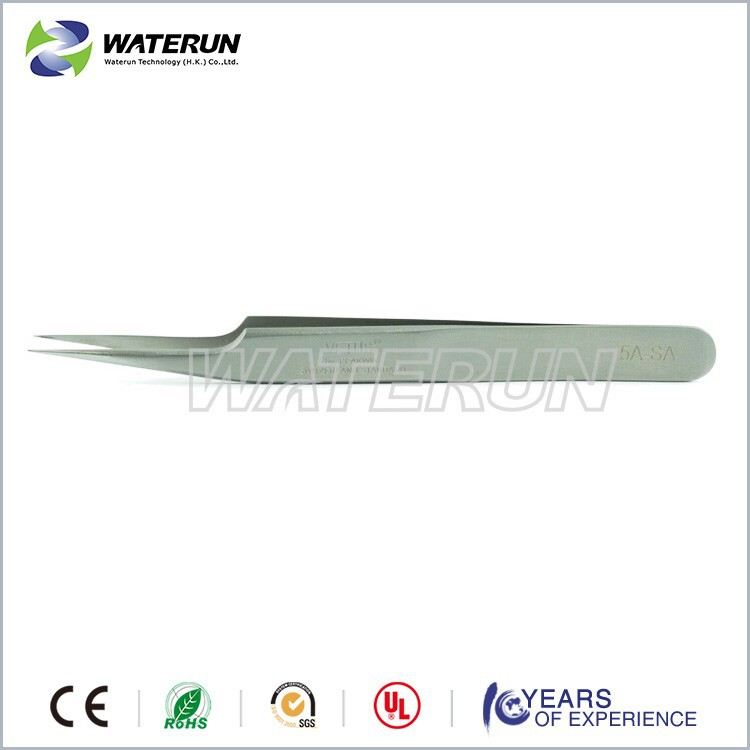 5-SA high precision stainless steel metal point small tweezers
