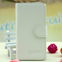 Leather Flip Case for Sony Xperia C S39h back cover