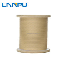 LP Professional Manufacturer Double Single Fiber Glass Covered Aluminum Flat Wire