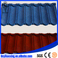 colorful stone coated steel roofing tile/stone coated metal roofing tile