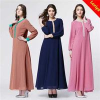 Economic hot-sale women muslim abaya arab chiffon kaftan plus size