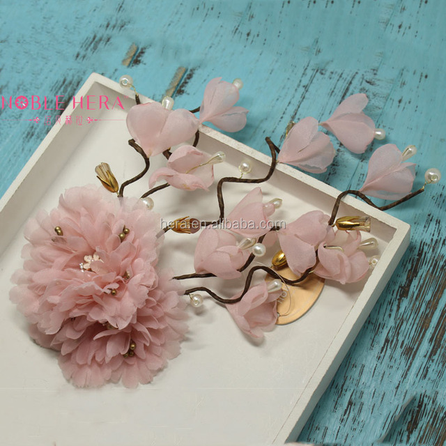 New Design Headdress for Wedding Crown Hair Clips Different Types Flower Hair Clips 735C