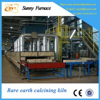 Roller kiln for rare earth calcination